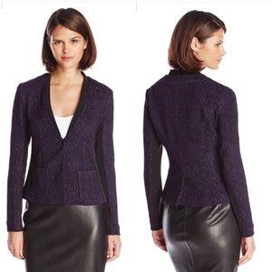 Nanette Lepore Trapeze textured blazer in purple